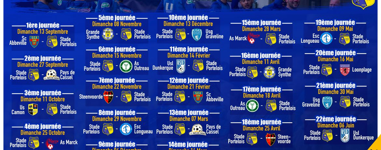 calendrier R1 Stade Portelois