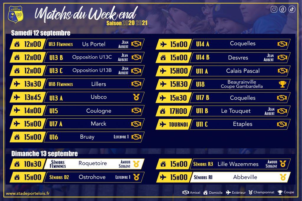 Matchs du week-end Stade Portelois