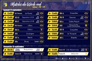 Matchs du week-end Stade Portelois
